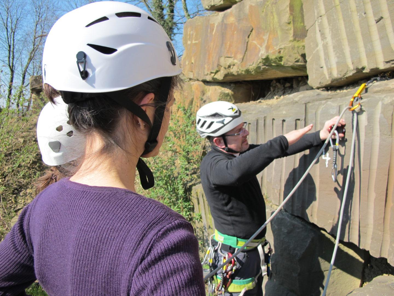 Ausbildung Bergsport im Klettergarten (Foto: sst)
