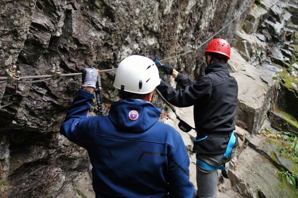 Bergsport Sicherungstechnik Klettersteige Spreeler Muehle Schnupperkurs