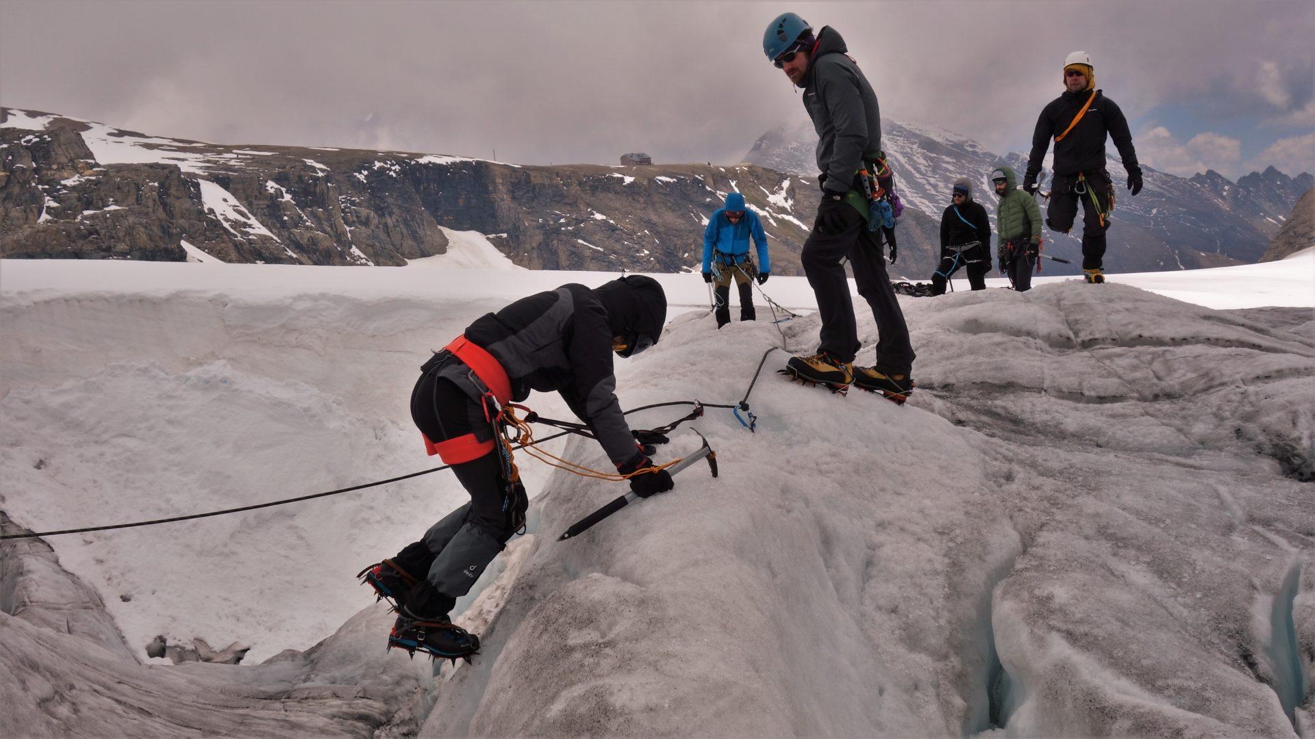 Bergsport Eisgrundkurs Oberwalderhütte (Foto: sst)