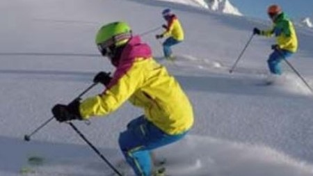 Wintersport Ski Abfahrt
