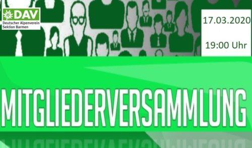 Artikelbild zu Artikel Einladung zur ordentlichen Mitgliederversammlung der Sektion Barmen