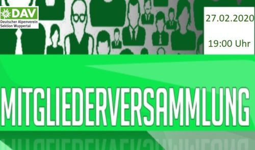 Artikelbild zu Artikel Einladung zur ordentlichen Mitgliederversammlung der Sektion Wuppertal
