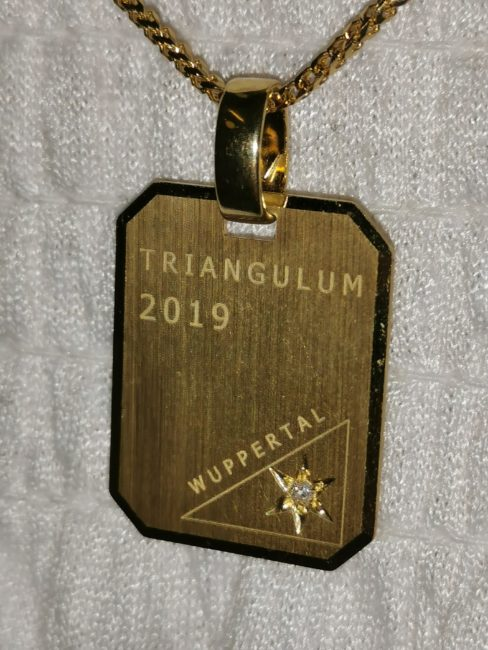 Wuppertaler Triangulum in Gold