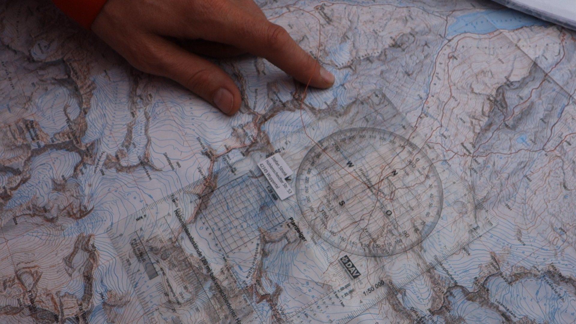 Bergsport Ausbildung Tourenplanung Karte