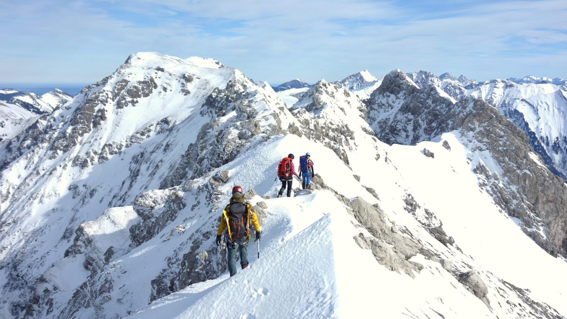 Bergsport Wintertour Hindelanger Klettersteig