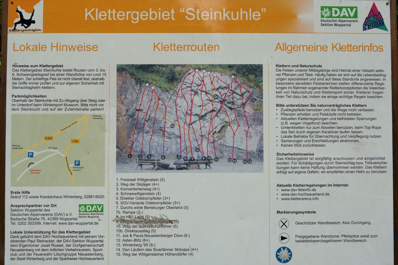 Klettergarten Steinkuhle Topo