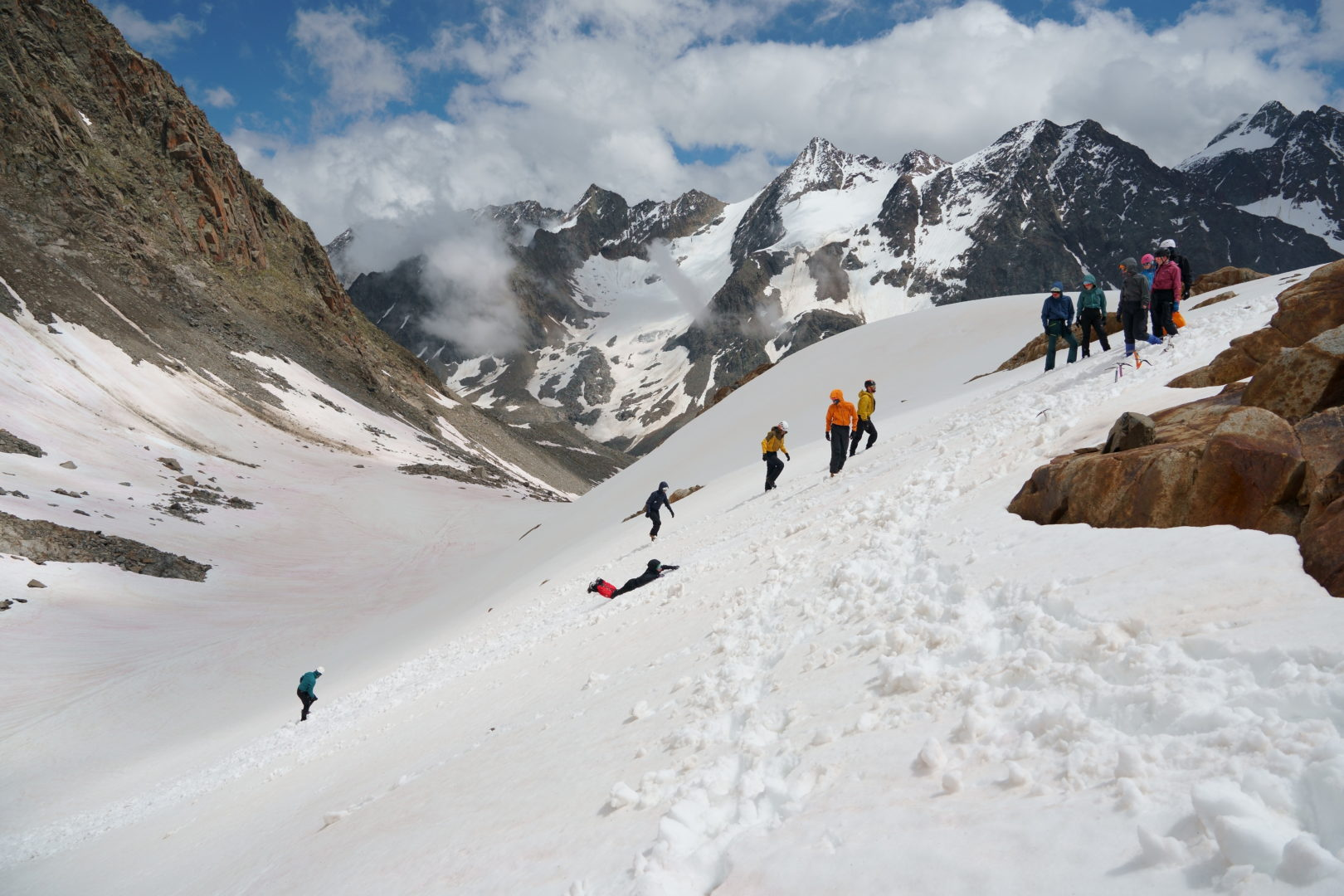 Bergsport Hochtouren Franz Senn Hütte Eisgrundkurs