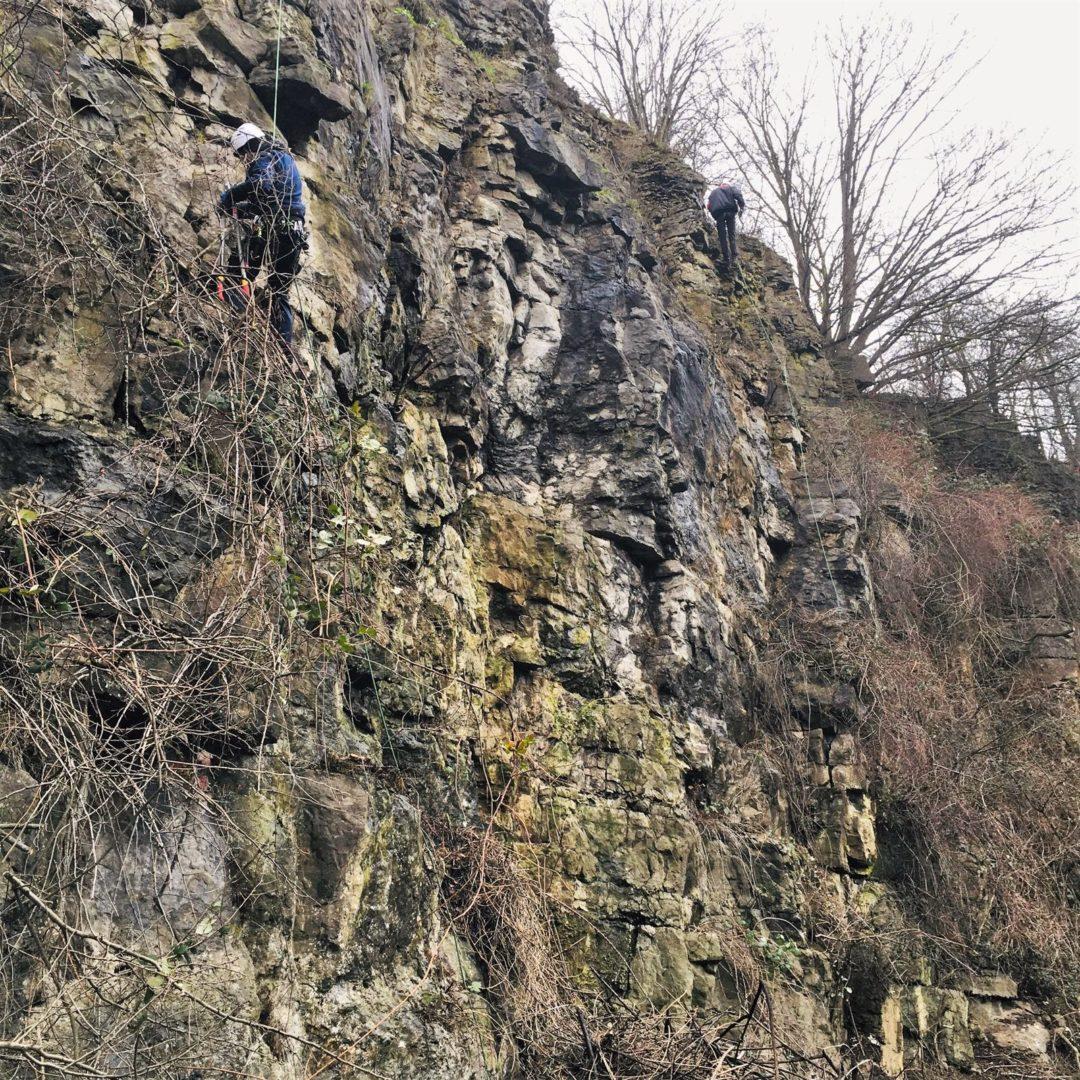 Klettergarten Höfen - Felsberäumung