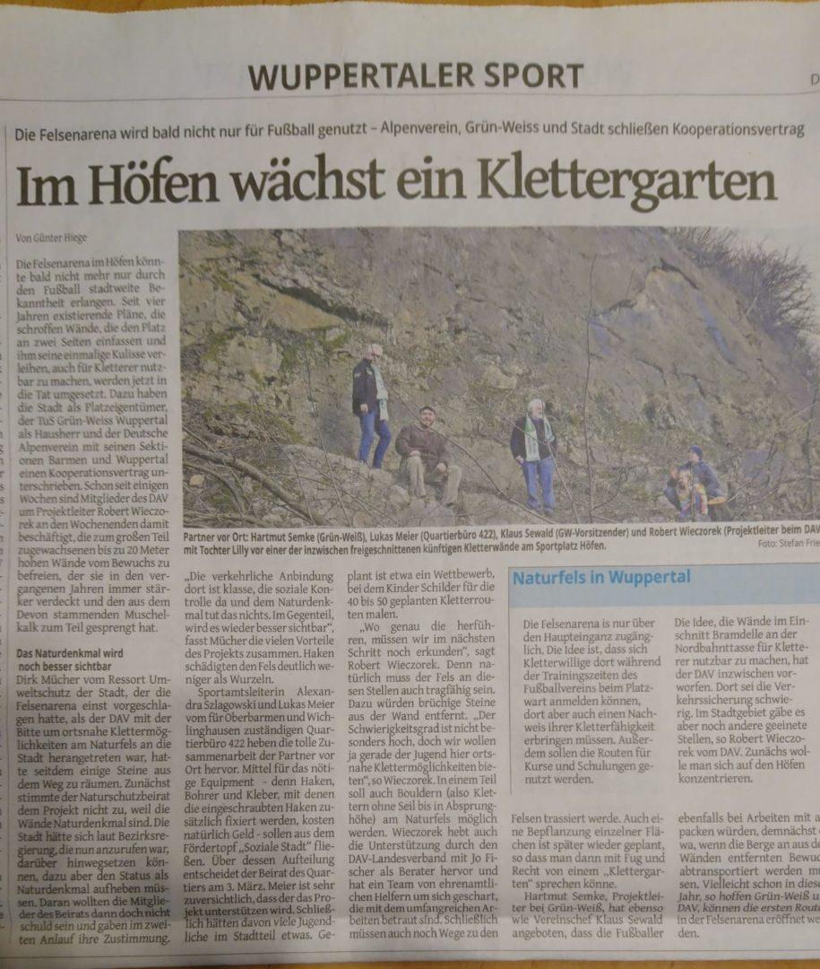 WZ Bericht Klettergarten Höfen