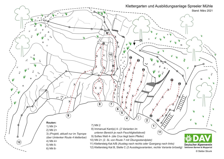 Topo Spreeler Mühle 2021-03 DAV Barmen und Wuppertal
