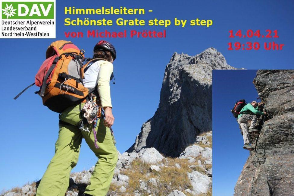 Online Live-Vortrag von Michael Pröttel: Himmelsleitern - schönste Grattouren step by step