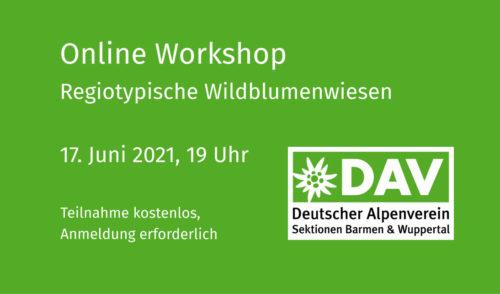 """Artikelbild zu Artikel Online Workshop """"Regiotypische Wildblumenwiesen"""""""