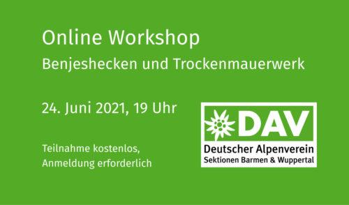 """Artikelbild zu Artikel Online Workshop """"Benjeshecken und Trockenmauerwerk"""""""