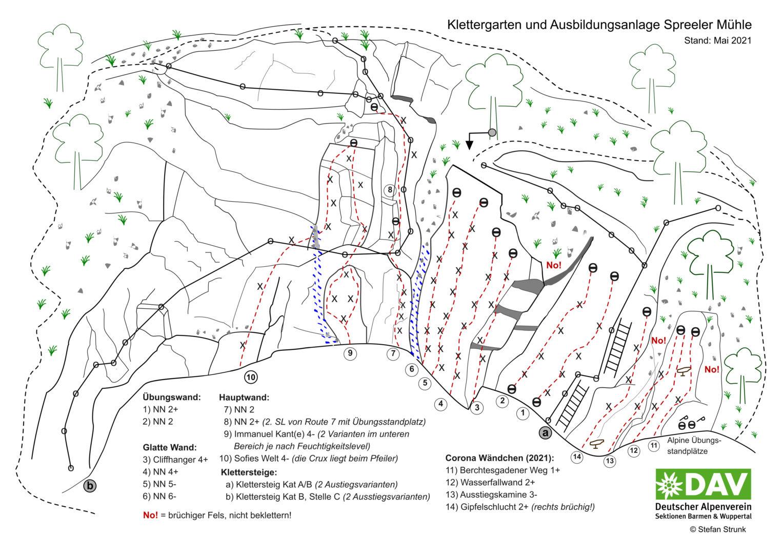 Topo Spreeler Mühle 2021-05 DAV Barmen und Wuppertal